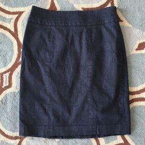 LOFT Dark Chambray Pencil Skirt